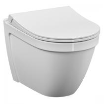 Pack WC suspendu S50 sans bride avec abattant Slim frein de chute Blanc - VITRA Réf. 5956B0036136