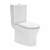 Pack WC Urb.Y sortie horizontale / alimentation latérale Blanc avec abattant - SANINDUSA Réf. 140923F