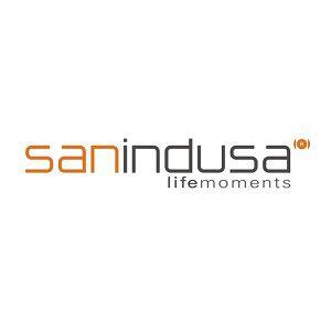 Panneau SANGLASS avec réserv. 3/6L p/cuvette simple bl/chr - SANINDUSA Réf. 4183310