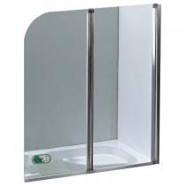 Pare-bain 2 volets 120cm verre transparent profilé Chromé - OZE Réf. PRB2VTC