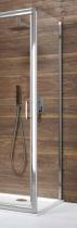 Paroi fixe à associer à une porte Tyxo 70cm Vitrage transparent profilé Blanc - LEDA Réf. L13TX607031