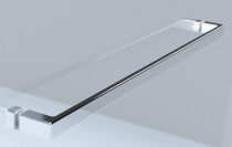 Paroi fixe Frisbee 60cm Vitrage transparent Profilé Argent brillant - LEDA Réf. L13FR702133