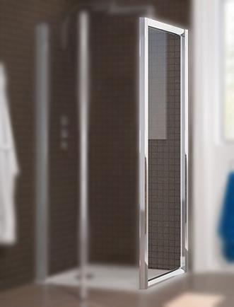 Paroi Fixe Hawa 90cm Pour Installation Avec Porte Profil Chrom Verre Transparent Kinedo R F