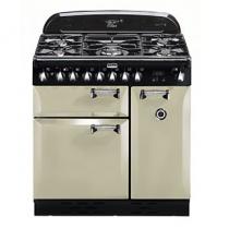 Piano de cuisson Elan Deluxe 90cm 2 fours électriques / 5 foyers gaz Crème - FALCON Réf. ELA90DFCR/-EU