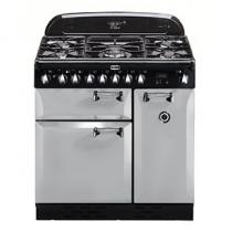 Piano de cuisson Elan Deluxe 90cm 2 fours électriques / 5 foyers gaz Gris perle - FALCON Réf. ELA90DFRP/-EU