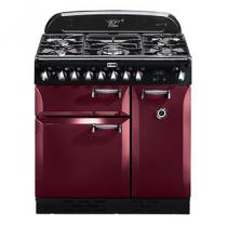 Piano de cuisson Elan Deluxe 90cm 2 fours électriques / 5 foyers gaz Rouge airelle - FALCON Réf. ELA90DFCY/-EU