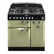 Piano de cuisson Elan Deluxe 90cm 2 fours électriques / 5 foyers gaz Vert Olive - FALCON Réf. ELA90DFOG/-EU