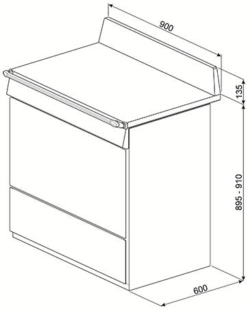 Piano de cuisson Victoria 90cm four électrique multifonction catalyse 126l / 5 foyers induction Noir - SMEG Réf. TR90IBL9