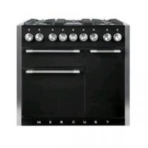 Piano MERCURY 100cm 2 fours électriques / 5 foyers gaz Noir brillant - FALCON Réf. MCY1000DFGB/-EU