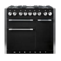 Piano MERCURY 100cm 2 fours électriques / 5 foyers gaz Noir cendré - FALCON Réf. MCY1000DFMB/-EU