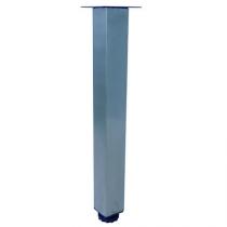 Pied carré 34-36cm Chromé (à l\'unité) - OZE Réf. PIEDC36