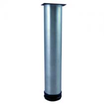 Pied rond 34-36cm Chromé (à l\'unité) - OZE Réf. PIEDR36