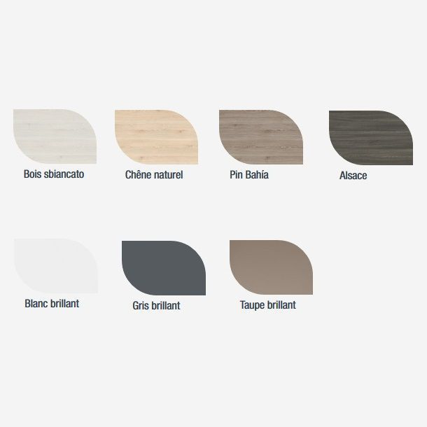 Plan de toilette Alliance 60 cm - coloris au choix (épaisseur 16mm) - SALGAR Réf. 22960