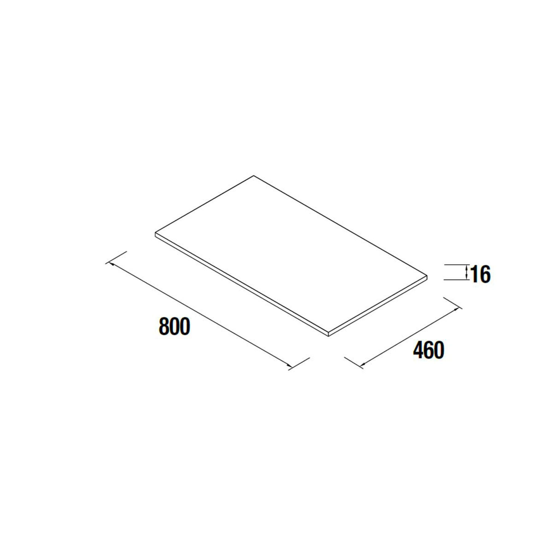 Plan de toilette Alliance 80cm - 7 coloris au choix (épaisseur 16mm) - SALGAR Réf. 22960
