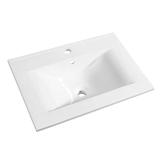 Plan de toilette C\'ram 60cm Blanc brillant - AQUARINE Réf. 813876