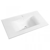 Plan de toilette C\'ram 80cm Blanc brillant - AQUARINE Réf. 814004
