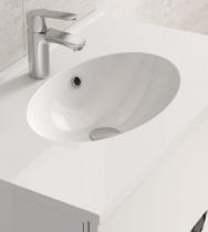 Plan de toilette CUP 60cm Blanc brillant - AQUARINE Réf. 816701