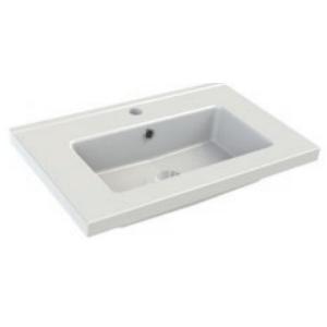 Plan de toilette FIT 61x39cm Blanc brillant - AQUARINE Réf. 820485