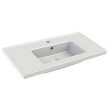 Plan de toilette FIT 81x39cm Blanc brillant - AQUARINE Réf. 820486