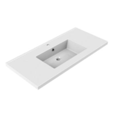 Plan de toilette GEMINI 100.5x46.2cm Blanc - AQUARINE Réf. 822526