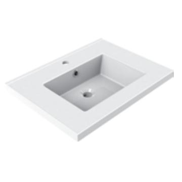 Plan de toilette GEMINI 60.5x46.2cm Blanc - AQUARINE Réf. 822671