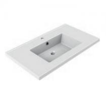 Plan de toilette GEMINI 80.5x46.2cm Blanc - AQUARINE Réf. 818271