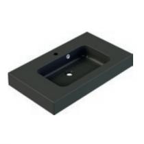 Plan de toilette KODIAC 80cm Noir mat - AQUARINE Réf. 823183
