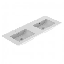Plan de toilette LUNO 120.5x46.2cm Blanc brillant - AQUARINE Réf. 824873