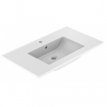 Plan de toilette LUNO 90.5x46.2cm Blanc brillant - Aquarine Réf. 826287