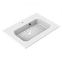 Plan de toilette MILO 60cm Blanc brillant - AQUARINE Réf. 822670
