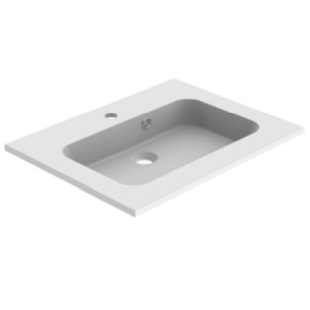Plan de toilette MILO 60cm Blanc mat - AQUARINE Réf. 824857