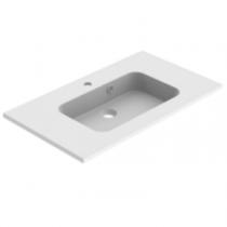 Plan de toilette MILO 80cm Blanc mat - AQUARINE Réf. 824858