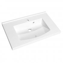 Plan de toilette Mind 60cm Blanc brillant - AQUARINE Réf. 817789