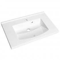 Plan de toilette Mind 70cm Blanc brillant - AQUARINE Réf. 813873