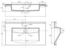 Plan de toilette Mind 80cm Blanc brillant - AQUARINE Réf. 814015