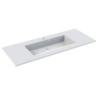 Plan de toilette Prism 100cm Blanc - AQUARINE Réf. 816685