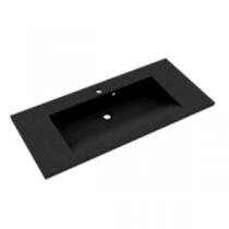 Plan de toilette PRISM 100cm Noir Granité - Aquarine Réf. 825539