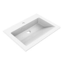 Plan de toilette Prism 60cm Blanc - AQUARINE Réf. 814022