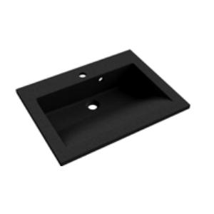 Plan de toilette PRISM 60cm Noir Granité - Aquarine Réf. 825538