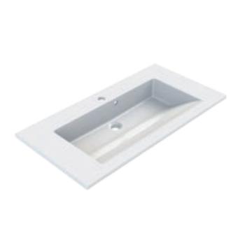 Plan de toilette Prism 80cm Blanc - AQUARINE Réf. 814023