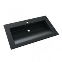 Plan de toilette PRISM 80cm Noir Granité - AQUARINE Réf. 816338
