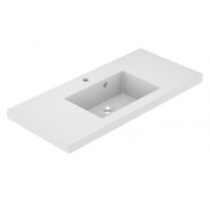 Plan de toilette VADOS 100cm Blanc brillant - AQUARINE Réf. 824844