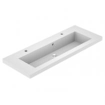 Plan de toilette VADOS 120cm Blanc brillant -  AQUARINE Réf. 824845