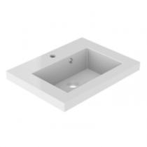 Plan de toilette VADOS 60cm Blanc brillant - AQUARINE Réf. 824841