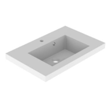 Plan de toilette VADOS 60cm Blanc brillant - AQUARINE Réf. 824842