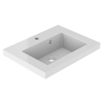 Plan de toilette VADOS 60cm Blanc mat - AQUARINE Réf. 824849