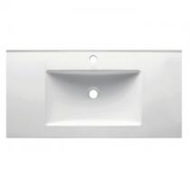 Plan vasque 101x46cm céramique Blanc - OZE Réf. VAS1000CER