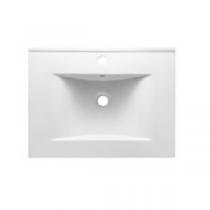 Plan vasque 61x46cm céramique Blanc - O\'DESIGN Réf. VAS600W