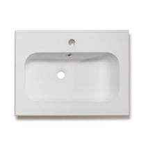 Plan vasque 61x46cm résine Blanc - OZE Réf. VAS600RES