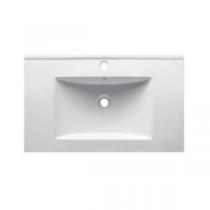 Plan vasque 71x46cm céramique Blanc - OZE Réf. VAS700CER